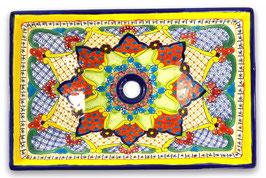 Mexikanisches Aufsatzwaschbecken (rechteckig) #ANG-1121-14