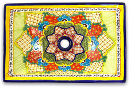 Mexikanisches Aufsatzwaschbecken (rechteckig) #ANG-1121-11