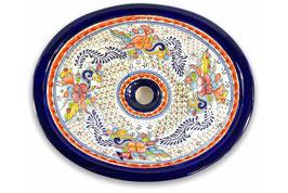 """Mexikanisches Waschbecken """"Dana"""" (oval, medium) #ANG-1120-1"""