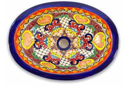 Mexikanisches Einbauwaschbecken (oval, klein) #ANG-1117-13