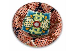 Mexikanisches Aufsatzwaschbecken (donut) #AMB-012-21