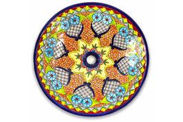 Mexikanisches Aufsatzwaschbecken (rund, gross) #ANG-1119-19