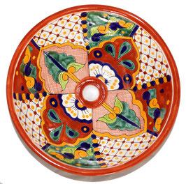 Mexikanisches Aufsatzwaschbecken (rund, medium) #AMB-002-4