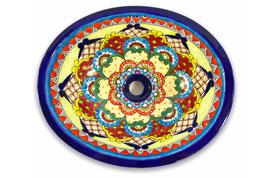 """Mexikanisches Waschbecken """"Dana"""" (oval, medium) #ANG-1120-14"""