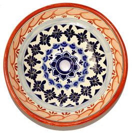 Mexikanisches Aufsatzwaschbecken (rund, medium) #AMB-002-2