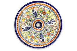 Mexikanisches Aufsatzwaschbecken (rund, gross) #ANG-1119-3