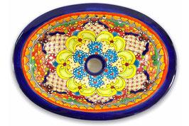 Mexikanisches Einbauwaschbecken (oval, klein) #ANG-1117-9