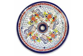 Mexikanisches Aufsatzwaschbecken (rund, gross) #ANG-1119-8