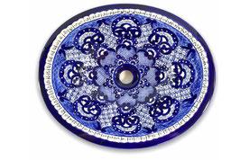 """Mexikanisches Waschbecken """"Dana"""" (oval, medium) #ANG-1120-11"""
