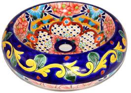 Mexikanisches Aufsatzwaschbecken (donut) #AMB-012-11