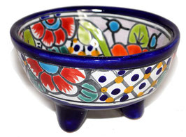 Schale Multicolor (Molcajete Mini) - Akzentfarbe kobaltblau - #AMK-030-5