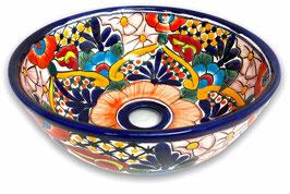 Mexikanisches Aufsatzwaschbecken (rund, klein) #AMB-200-7