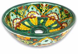 Mexikanisches Aufsatzwaschbecken (rund, klein) #AMB-200-5