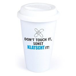 "Coffee-To-Go-Becher ""Don't touch it"""