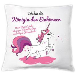 "Kissen ""Königin der Einhörner"""
