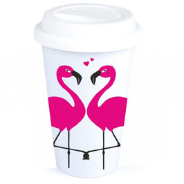"Coffee-To-Go-Becher ""Flamingo Love"""