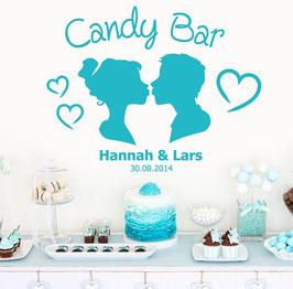 "Wandtattoo ""Candybar Paar mit Namen"""