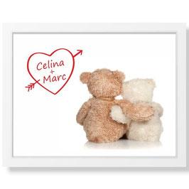 "Bild ""Teddyliebe"" inkl. Rahmen"