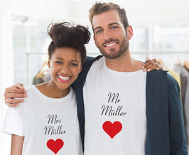 2 Partner T-Shirts Herz