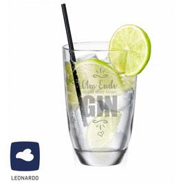 """Leonardo GIN-Glas """"Am Ende ergibt alles einen GIN"""""""
