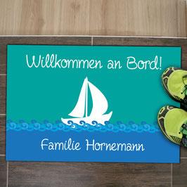 """Fußmatte """"Willkommen an Bord"""""""