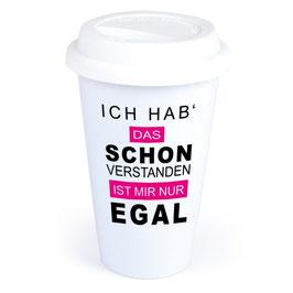 """Coffee-To-Go-Becher """"Schon verstanden"""""""