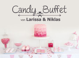 "Wandtattoo ""Candy Buffet mit Namen"""