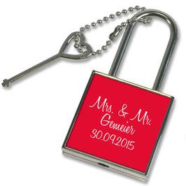"""Liebesschloss """"Mrs. & Mr."""""""