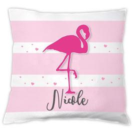 Flamingokissen mit Namen