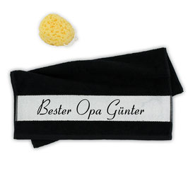 """Flauschiges Handtuch """"Bester Opa ..."""""""