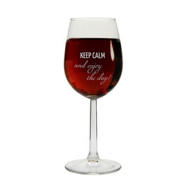 Weinglas Lebensweisheit
