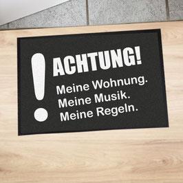 """Fußmatte """"Achtung!"""""""