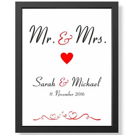 "Wandbild ""Mr & Mrs"""