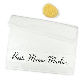 "Flauschiges Handtuch ""Beste Mama ..."""