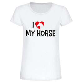"T-Shirt ""I love my horse"""
