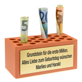 Grundstein für die erste Million