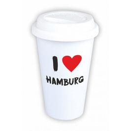 "Coffee-To-Go-Becher ""I love Hamburg"""