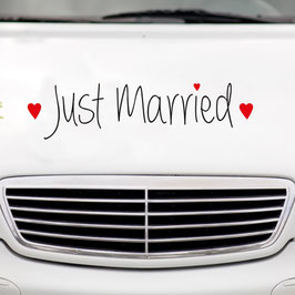 "Autoaufkleber ""Just married"""