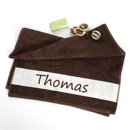 Flauschiges Handtuch mit Namen