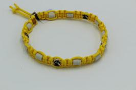 EM-Keramik Halsband in gelb mit Perlen