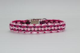 Halsband mit Clickverschluss in rosa
