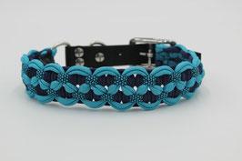 Halsband mit Adapter aus Biothane in blau