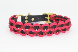 Halsband mit Adapter aus Biothane in rot