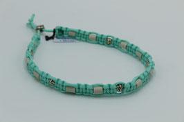EM-Keramik Halsband in türkis mit Perlen