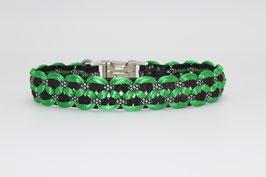 Halsband mit Clickverschluss in grün
