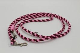 Leine aus Paracord in rosa und weinrot