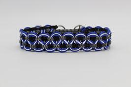 Zugstopp Halsband in blau mit Reflektoren