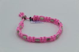 EM-Keramik Halsband in rosa mit Perlen