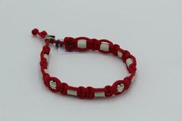 EM-Keramik Halsband in rot mit Perlen
