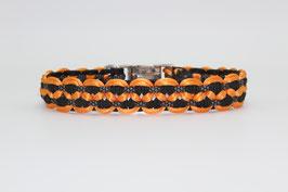 Halsband mit Clickverschluss in orange